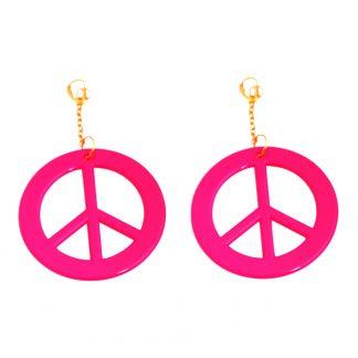 Örhängen Peace UV Neonrosa - 2-pack