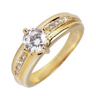 18 K guldpläterad ring