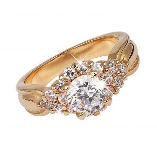 18K Guldpläterad Ring