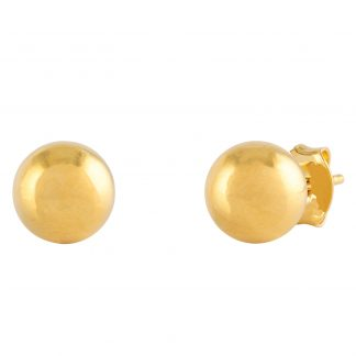 18k Guldpläterade örhängen - Kula 5mm