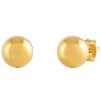 18k Guldpläterade örhängen - Kula 6mm