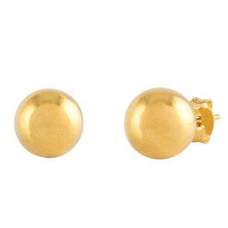 18k Guldpläterade örhängen - Kula 8mm
