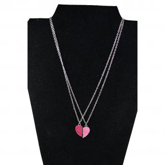 2 Stycken Halsband Med Hjärta Best Friends