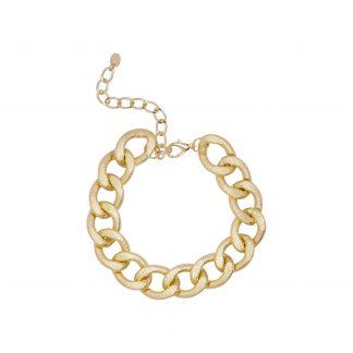 Armband - guldfärgad tjock kedja