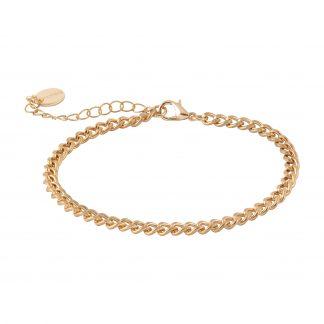 Armband - guldfärgad tunn kedja
