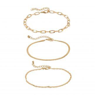 Armband - guldfärgat med tre kedjor