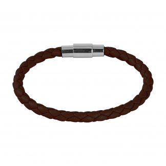 Armband i brunt läder - Barn