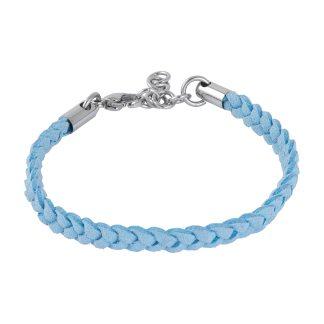 Armband i ljusblå läder - Barn
