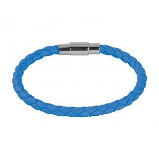 Armband i ljusblått läder - Barn