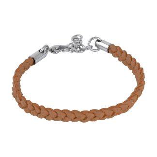 Armband i ljusbrunt läder - Barn