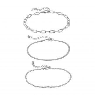 Armband - silverfärgat med tre kedjor