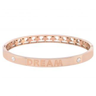 Armband stål, bangle med texten Dream