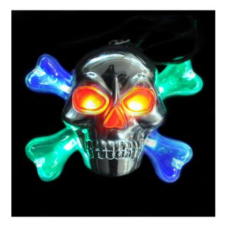 Blinkande Dödskalle Halsband