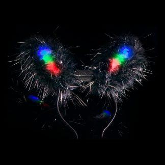 Blinkande Kaninöron - Svart
