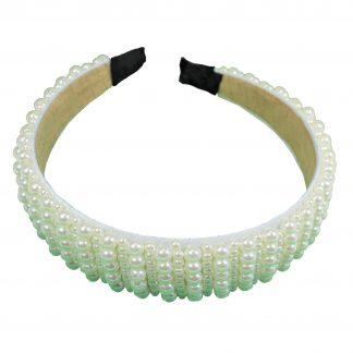Brett diadem med stora och små pärlor