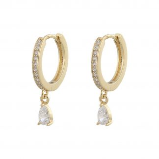 Camille drop ring ear Earring, ONE SIZE