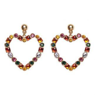 Cellbes Örhängen med färgade stenar Flerfärgad