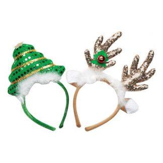 Cellbes Diademset med julgran och horn Multi