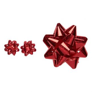 Cellbes Hårklämma + örhängen Röd Glitter