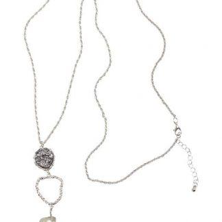 Cellbes Långt halsband med sten Silverfärgad