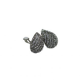 Clipsörhänge, i droppform med stenar
