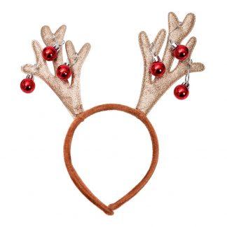 Diadem Rudolph med Bjällror - One size