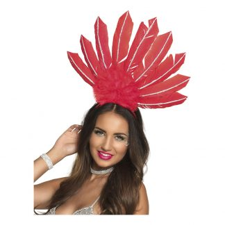 Diadem Samba Röd - One size