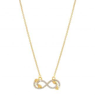 Guldfärgat halsband, tunn kedja med infinity-symbol