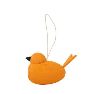 Hänge Fågel m Snöre Orange