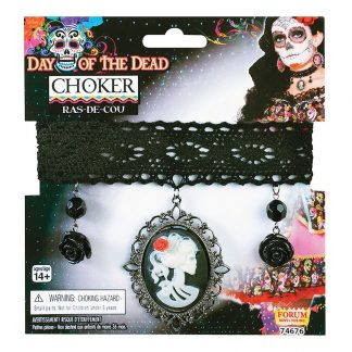 Halsband Day of the Dead - One size