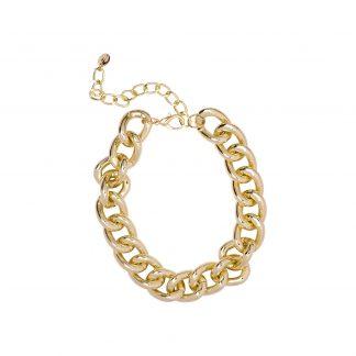 Halsband - Guldfärgad XL-kedja