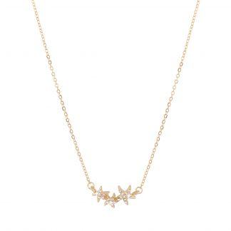 Halsband - Guldfärgat med tre glittriga stjärnor