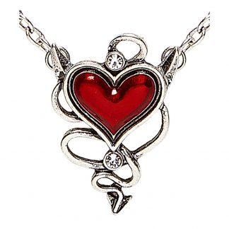 Halsband Hjärta med Horn