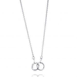 Halsband Twosome Necklace, silver
