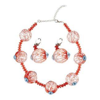 Halsband & Örhängen med Ögonglobar