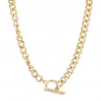 Halsband - guldfärgad kedja