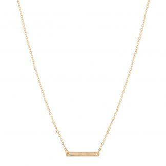Halsband - guldfärgat med platta