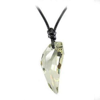 Halsband med brun kristall