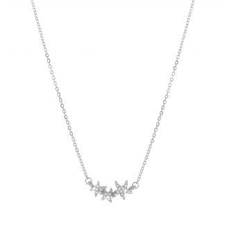 Halsband - silverfärgat med tre glittrande stjärnor