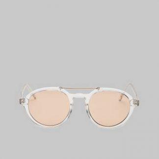 Komono Solglasögon Harper Crystal Vit