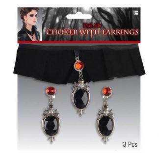 Kraghalsband Gotiskt med Örhängen