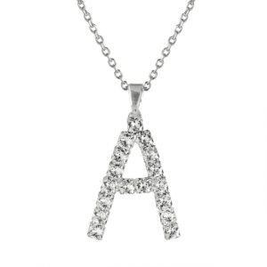 Letter A Necklace Crystal 50cm