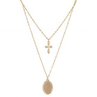 Montini Halsband med kors och berlock