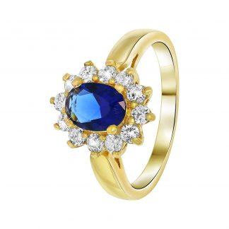 Nouveau Vintage Ring Blå