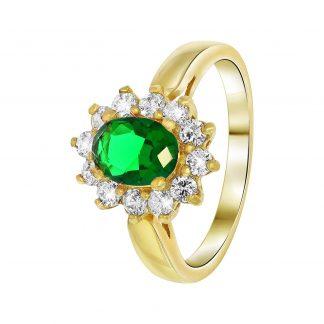 Nouveau Vintage Ring Grön