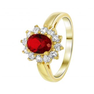 Nouveau Vintage Ring Röd