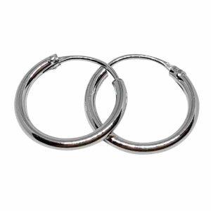 Örhänge 12 mm äkta silverringar - creoler