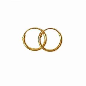 Örhänge 8 mm guldpläterade äkta silverringar - creoler