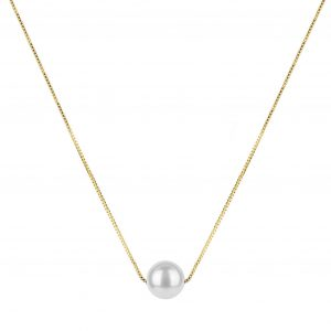 Pearly Short Necklace, ONE SIZE