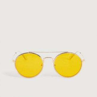 Solglasögon Pilot Gul